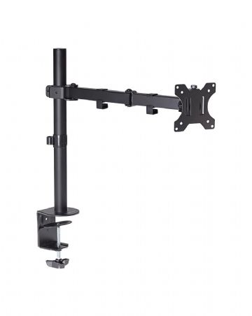 ProperAV Swing Arm Desk PC Monitor Mount 19''-32'' 48cm Ext Vesa 100x100 - Black